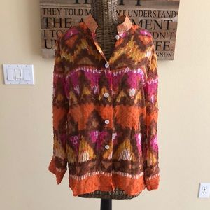 NWT Laura Ashley Southwestern Print Silk Blend SP